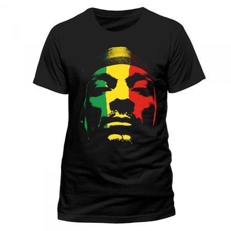 Snoop Dog Mens T-Shirt Rasta Face von S bis 2XL