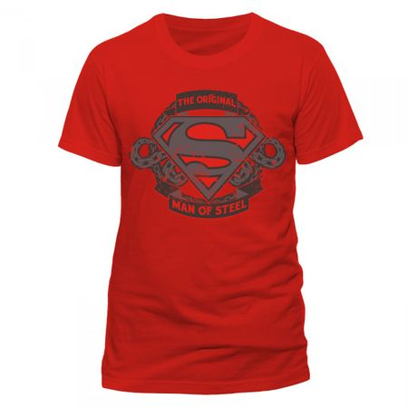Superman Mens T-Shirt Men Of Steel von S bis 2XL