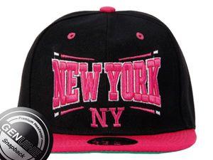 Viper Städte Fashion Baseball Snapback Cap New York pink/schwarz 001