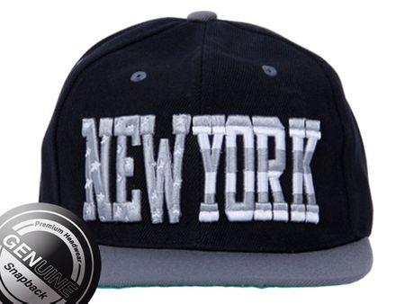 Viper City Fashion Baseball Snapback Cap New York grau/schwarz/silber