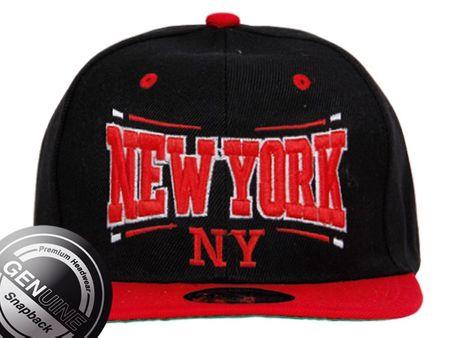 Viper City Fashion Baseball Snapback Cap New York rot/schwarz/rot