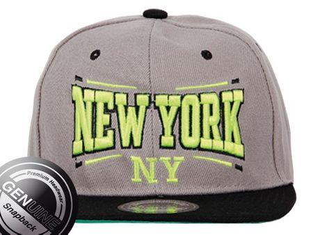 New York City Fashion Baseball Snapback Cap in grau/schwarz