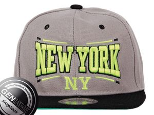 New York City Fashion Baseball Snapback Cap in grau/schwarz 001