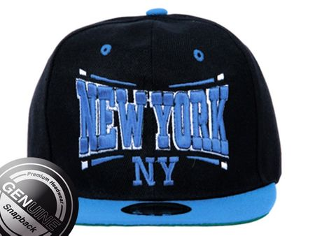 New York City Fashion Baseball Snapback Cap in türkis-schwarz – Bild 2