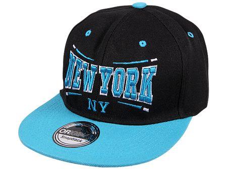 New York City Fashion Baseball Snapback Cap in türkis-schwarz