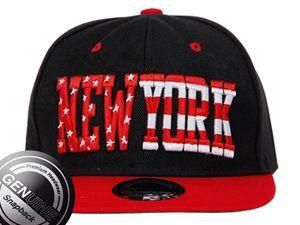 Viper City Fashion Baseball Snapback Cap New York rot-schwarz 001