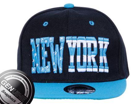 Viper City Fashion Baseball Snapback Cap New York Star in türkis-schwarz