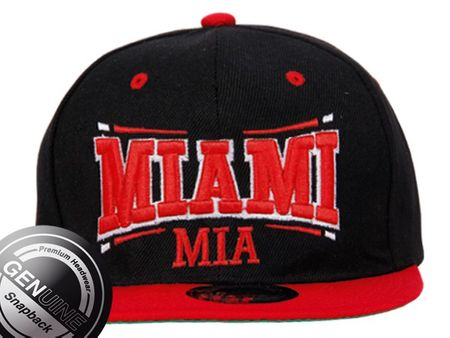 Miami City Fashion Baseball Snapback Cap in in rot-schwarz – Bild 2