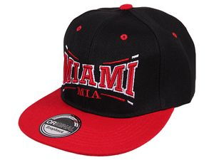 Miami City Fashion Baseball Snapback Cap in in rot-schwarz 001
