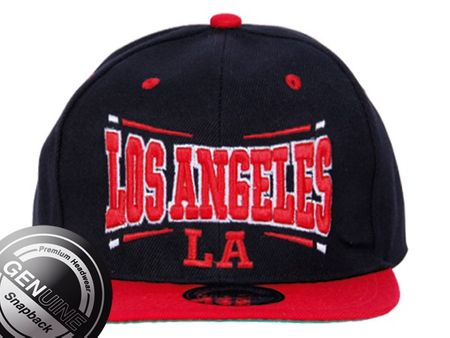 Los Angeles City Fashion Baseball Snapback Cap in in rot-schwarz – Bild 2