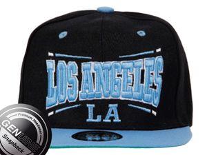 Viper City Fashion Baseball Snapback Cap Los Angeles schwarz-blau 001