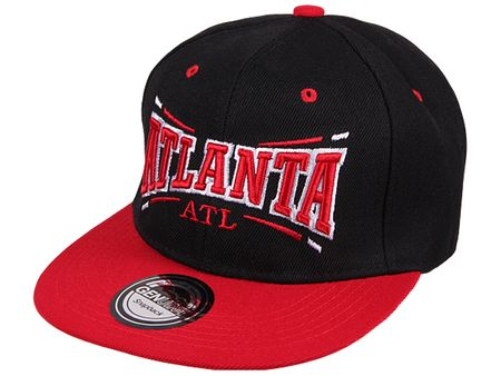 Atlanta City Fashion Baseball Snapback Cap in schwarz-rot – Bild 1