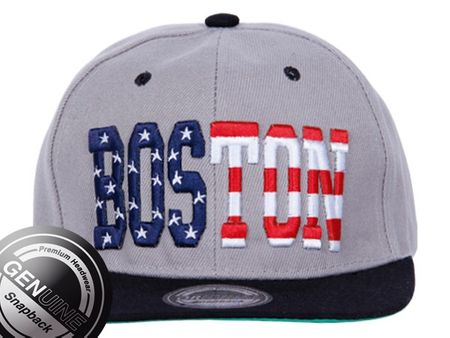 Boston City Fahion Baseball Snapback Cap