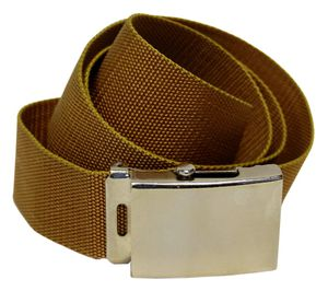 Stoffgürtel / Matrosengürtel / Canvas Belt in Coffee von 100-150cm 001