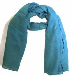 Baumwolltuch Halstuch in Unicolour Blau in 100*100cm 001