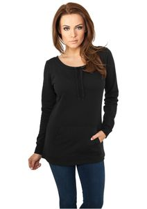 Urban Classics Ladies Wideneck Pocket Sweater in schwarz von Größe XS-XL 001