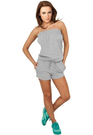 Urban Classics Ladies Hot Jumpsuit Trainingsanzug in grau von Größe XS-XL