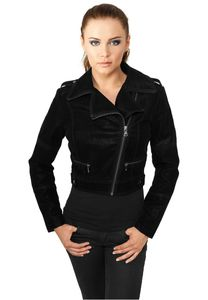 Urban Classics Ladies Short Biker Jacket in schwarz von XS-XL 001