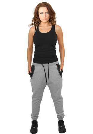Urban Classics Ladies Side Zip Leather Pocket Sweatpant in grau von Größe XS-XL – Bild 1