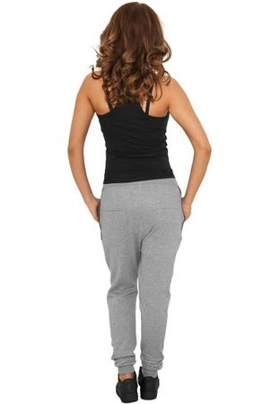 Urban Classics Ladies Side Zip Leather Pocket Sweatpant in grau von Größe XS-XL – Bild 3