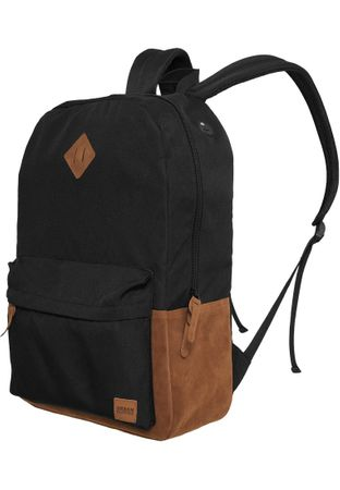Urban Classics Basic Rucksack Leather Imitation in schwarz/braun – Bild 1
