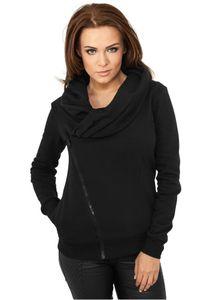 Urban Classics Ladies Asymetric Zip Jacket in schwarz von Größe XS-XL 001