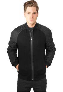 Urban Classics Diamond Nylon Wool Jacket in schwarz von S-2XL 001