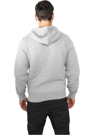 Urban Classics Diamond Quilt Zip Hoody in grau von S-2XL – Bild 2