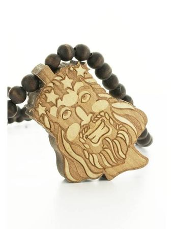 Wood Fellas Halskette / Necklaces Jesus – Bild 3