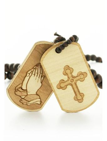 Wood Fellas Halskette / Necklaces Praying Dog Tag – Bild 4