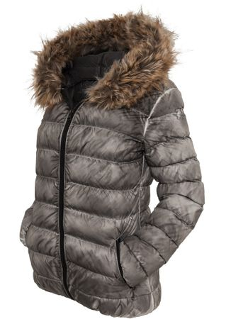 Urban Classics Ladies Spray Dye Winter Jacket in grau von Größe XS-XL