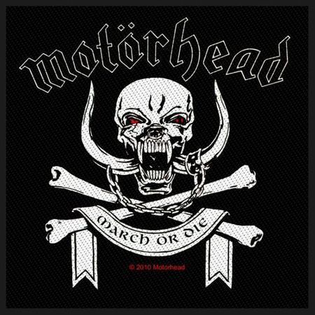 Motörhead Aufnäher Patch / Aufnäher Sew-on Patch March Or Die