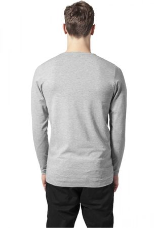 Urban Classics Fitted Stretch Longsleeves Tee in grau von S bis 2XL – Bild 2