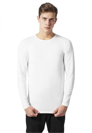 Urban Classics Fitted Stretch Longsleeves Tee in weiß von S bis 2XL – Bild 1