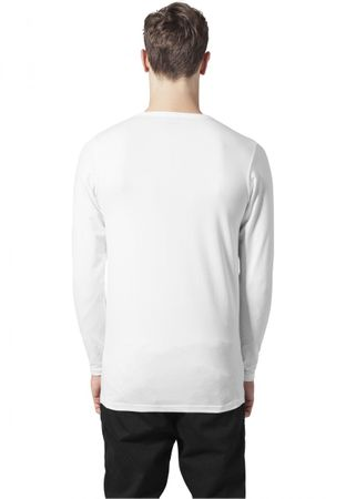 Urban Classics Fitted Stretch Longsleeves Tee in weiß von S bis 2XL – Bild 2