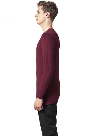 Urban Classics Fitted Stretch Longsleeves Tee in burgundy von S bis 2XL – Bild 4
