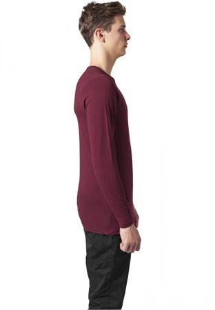 Urban Classics Fitted Stretch Longsleeves Tee in burgundy von S bis 2XL – Bild 3