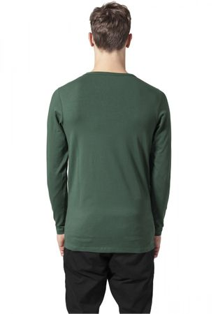 Urban Classics Fitted Stretch Longsleeves Tee in forestgrün von S bis 2XL – Bild 2