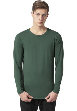 Urban Classics Fitted Stretch Longsleeves Tee in forestgrün von S bis 2XL – Bild 1