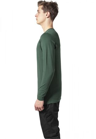 Urban Classics Fitted Stretch Longsleeves Tee in forestgrün von S bis 2XL – Bild 3