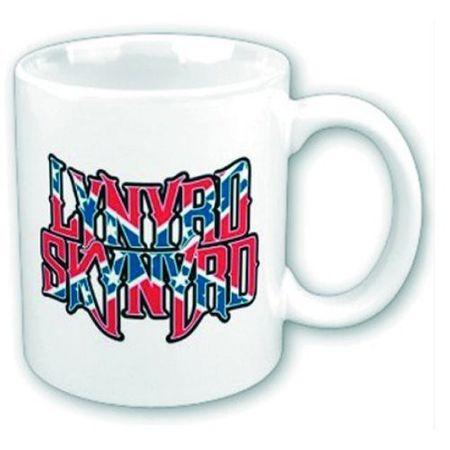 Lynyrd Skynyrd Keramik Kaffeetasse Flag Logo mit Geschenkbox
