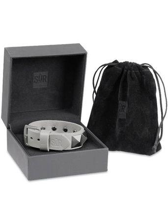 SUR Classic Chardon Bracelets / Lederarmband in grau – Bild 3