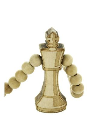 Wood Fellas Halskette / Necklaces Modell Chess King – Bild 3