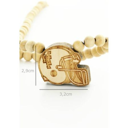 Wood Fellas Halskette / Necklaces Modell Football Helm – Bild 2