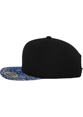 Flexfit Bandana Snapback Baseball Cap in schwarz-royal – Bild 2