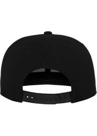 Flexfit Leather Snapback Baseball Cap in schwarz – Bild 5