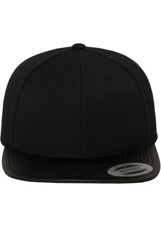 Flexfit Leather Snapback Baseball Cap in schwarz – Bild 2