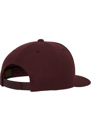 Flexfit / Yupoong Classic Snapback Cap in maroon – Bild 4