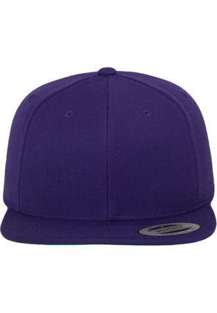 Flexfit / Yupoong Classic Snapback Cap in lila – Bild 2