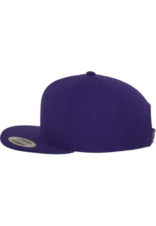 Flexfit / Yupoong Classic Snapback Cap in lila – Bild 4